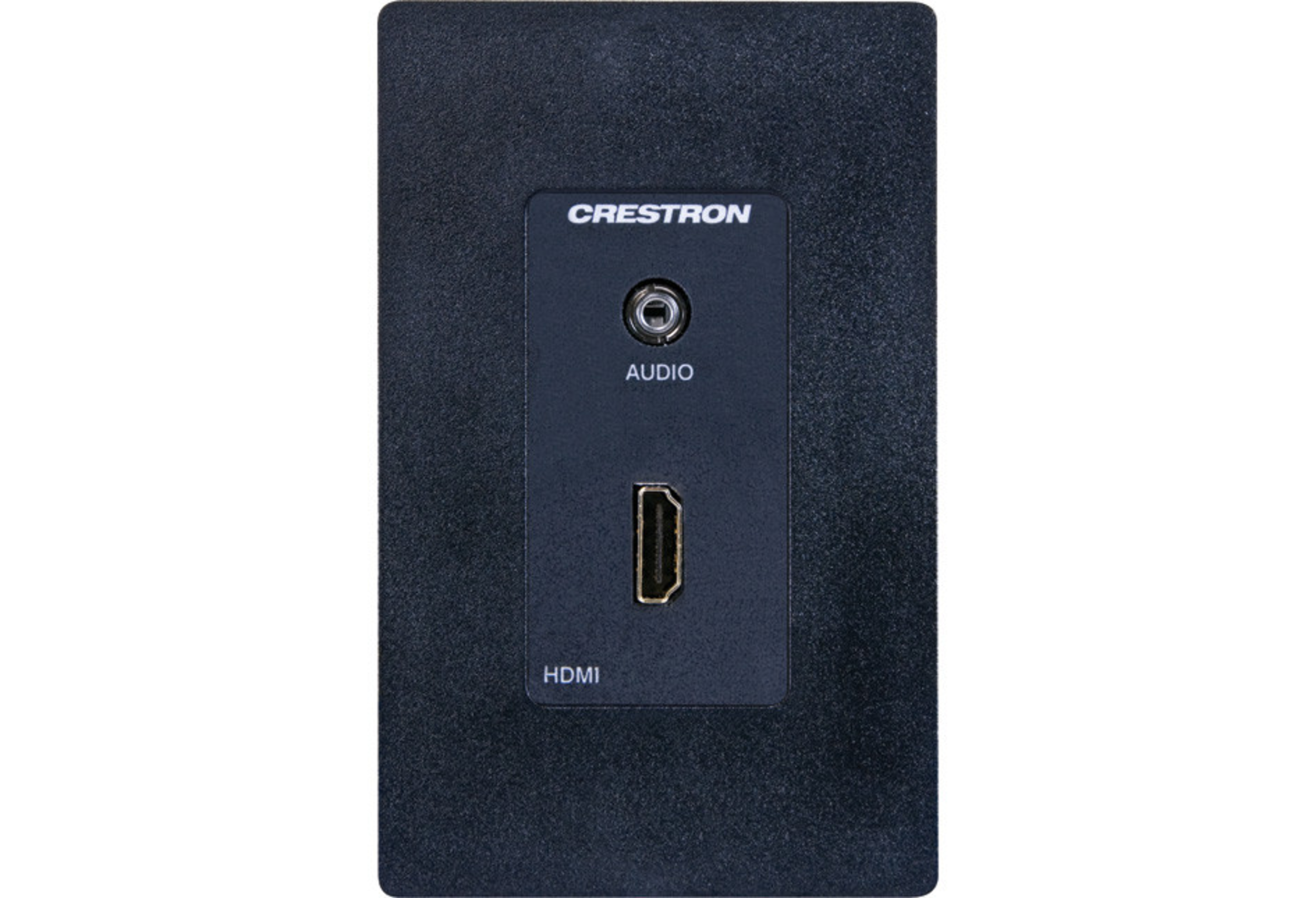Crestron® Media Presentation Wall Plate - HDMI® w/Mini-TRS Stereo Audio,  Black